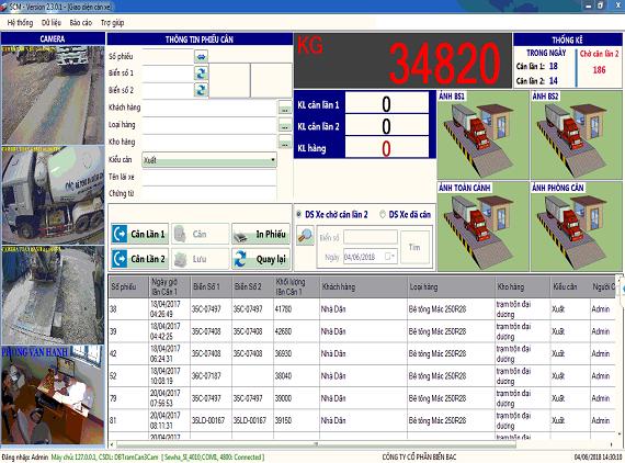 Phần mềm quản lý trạm cân SCM