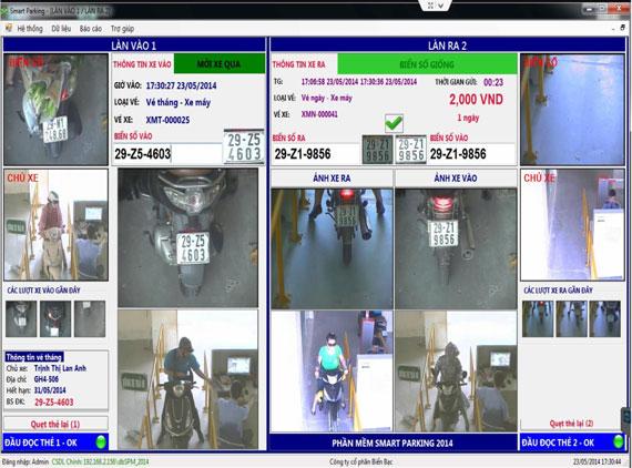 Phần mềm quản lý bãi xe tự động SPM