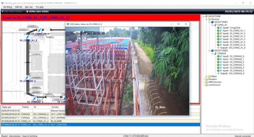Phần mềm quản lý hệ thống cảnh báo tập trung CMS Alarm