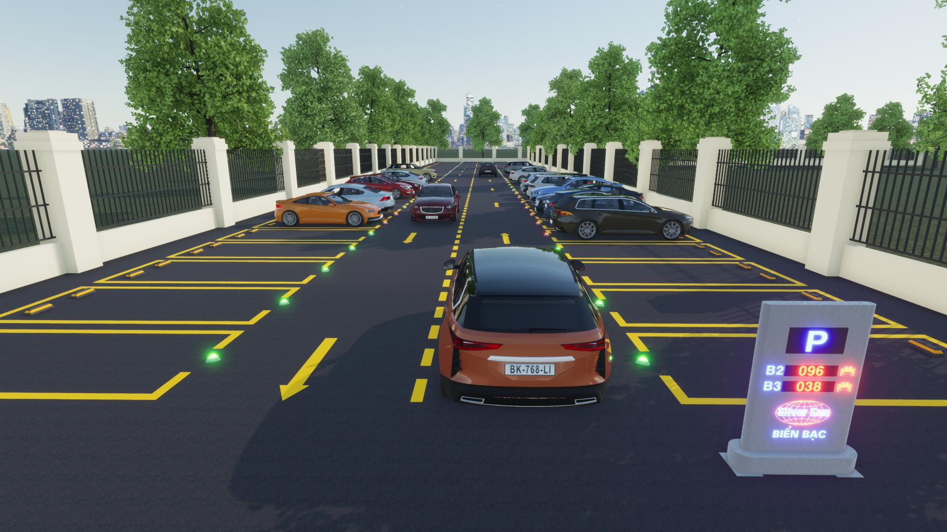 Giải pháp báo trống bãi xe